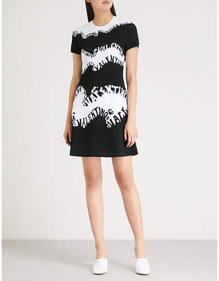 Valentino Wave logo knitted mini dress