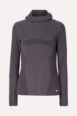Nike Element Hooded Stretch Top - Anthracite