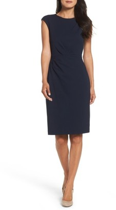 Women's Betsey Johnson Ruched Ponte Sheath Dress $148 thestylecure.com
