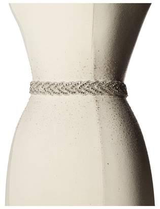 Nina Kennedy Organza Crystal Braid Sash Women's Belts