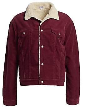 RE/DONE Women's Oversized Faux-Shearling & Corduroy Trucker Jacket