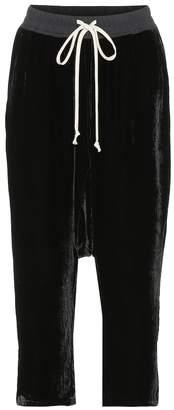 Rick Owens Cropped velvet sweatpants