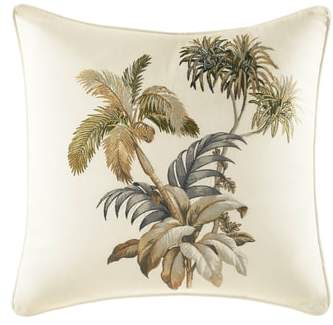 Nador Palm Embroidered Accent Pillow