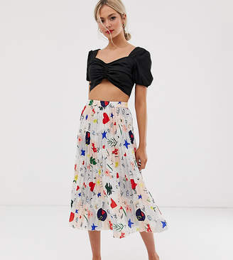 Lily & Lionel exclusive pleated midaxi skirt in daydream