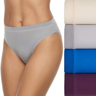Fruit of the Loom Women's 4-pack Signature Everlight Hi Cut Panty 4DELSHC
