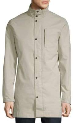 J. Lindeberg Stand Collar Trench Coat