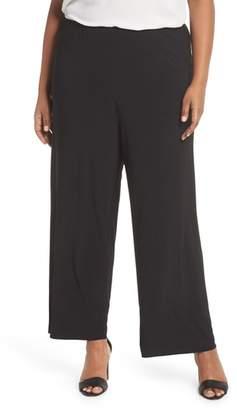 Alex Evenings Matte Jersey Straight Leg Pants