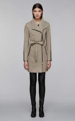 Mackage ESTELA belted trench coat with inner bib