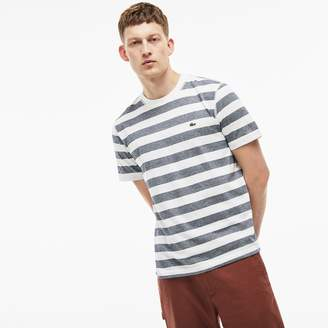 Lacoste Men's Crew Neck Striped Cotton T-Shirt