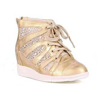 b366d65a2798 Nature Breeze Lace Women s Wedge Sneakers in Gold