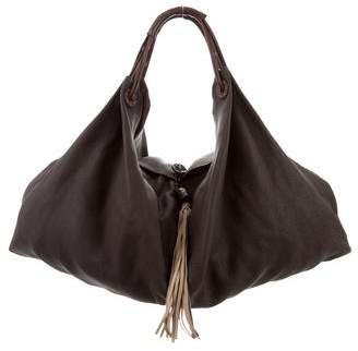 Henry Beguelin Grained Leather Hobo