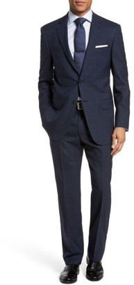 Men's Hart Schaffner Marx New York Classic Fit Stretch Plaid Wool Suit $795 thestylecure.com