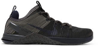 Nike Training - Metcon DSX 2 Flyknit and Rubber Sneakers - Green