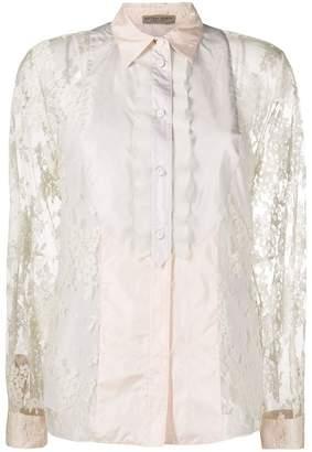 Bottega Veneta floral lace shirt