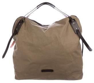 Burberry Leather-Trimmed Weekender Bag