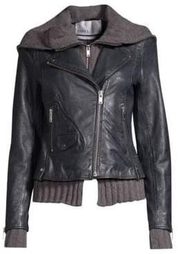 Doma Leather Moto & Hoodie Jacket