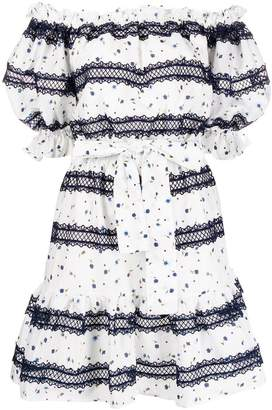 Perseverance London embroidered short dress