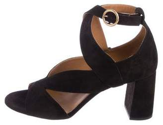 Chloé Suede Crossover Sandals