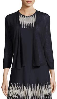 Nic+Zoe 4-Way Linen-Blend Knit Cardigan, Plus Size