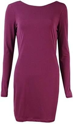 BCBGeneration Women's Long-Sleeve Cowl-Back Mini Dress