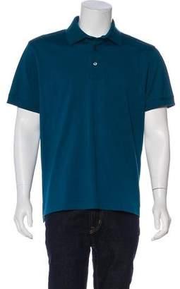 Tom Ford Logo Piqué Polo Shirt
