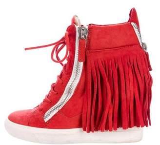 Giuseppe Zanotti Fringe Wedge Sneakers