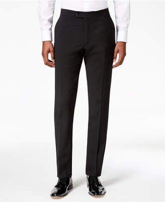Tommy Hilfiger Men Modern-Fit Flex Stretch Black Tuxedo Pants