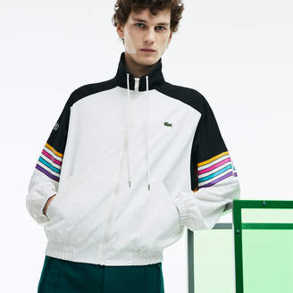 Lacoste Unisex Fashion Show Colorblock Technical Canvas Zippered Jacket