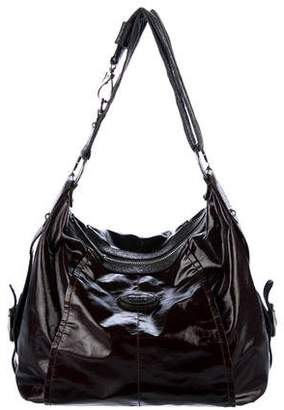 Tod's Leather-Trimmed Patent Canvas Hobo