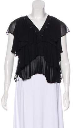 Givenchy Pleated Sleeveless Top