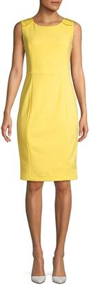 Calvin Klein Buckle Strap Sheath Dress
