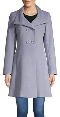 Trina Turk Trina By Kate A-Line Double-Breasted Coat