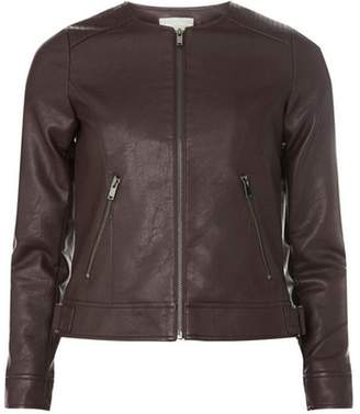 Dorothy Perkins Womens Petite Port Faux Leather Jacket