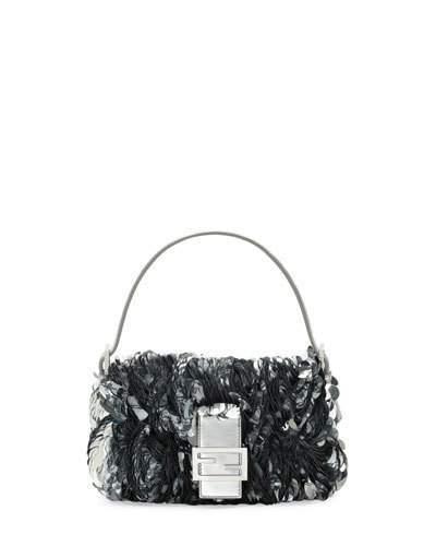 Fendi Baguette Paillette-Embellished Shoulder Bag
