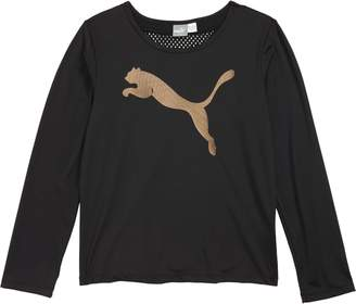 Puma Cat Graphic Long Sleeve Tee