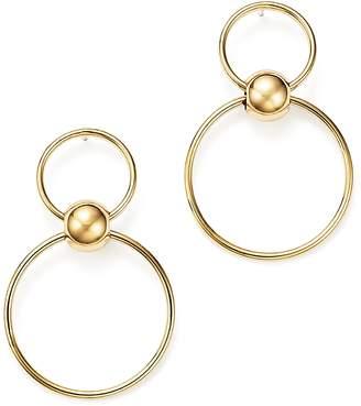 Bloomingdale's 14K Yellow Gold Beaded Double Hoop Drop Earrings - 100% Exclusive