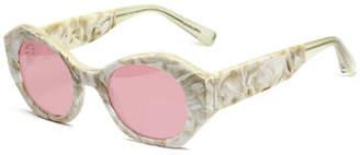 Elizabeth and James Huxley Geometric Acetate Sunglasses