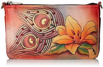 Swarovski Anuschka Handpainted Leather Crystallized W Convertible Clutch