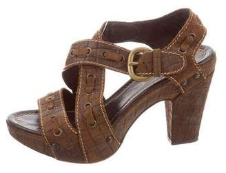 Henry Beguelin Leather Crossover Strap Sandals