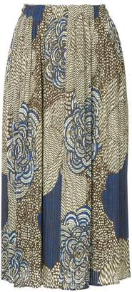 Pleats Please Issey Miyake Mass printed skirt