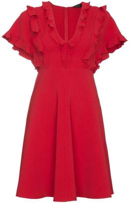 Giambattista Valli Ruffled dress with v neck