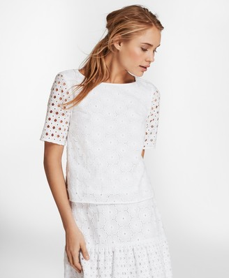Brooks Brothers Cotton Eyelet Blouse