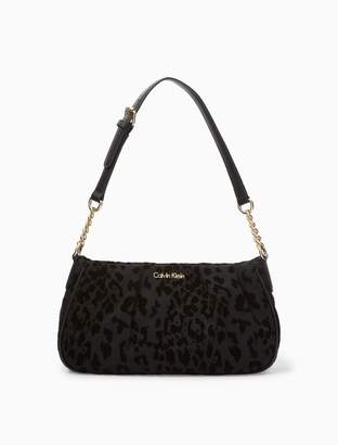 Calvin Klein nylon demi medium satchel
