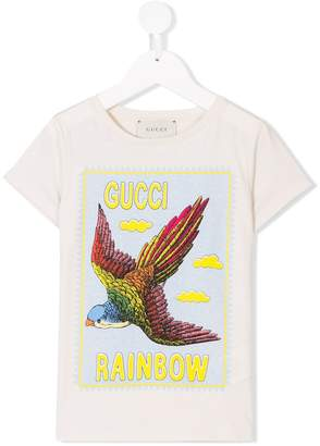 Gucci Kids Rainbow eagle print T-shirt