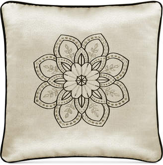 """J Queen New York Mirabella 18"""" x 18"""" Embroidered Decorative Pillow"""