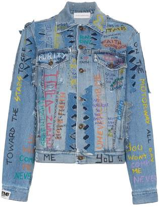 Faith Connexion Graffiti Denim Jacket
