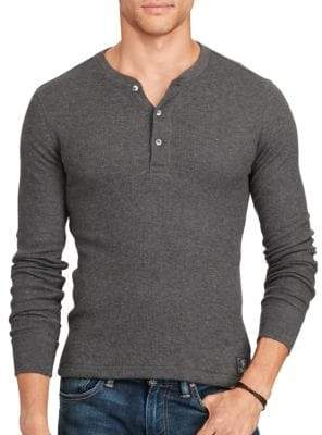 Mens waffle knit henley shopstyle ralph lauren blue label waffle knit pima henley publicscrutiny Choice Image