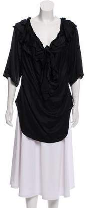 Anna Molinari Silk Long Sleeve Blouse