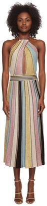 M Missoni Vertical Stripe Crochet Dress Women's Dress