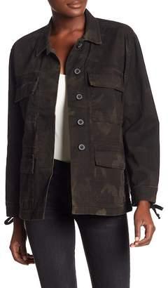 True Religion Coated Military Jacket